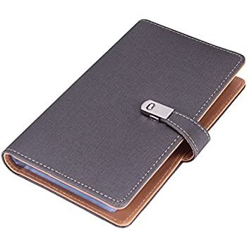 Amazon maxgear professional pu leather business card book name card book holder business card organizer for 240 cards grey reheart Image collections