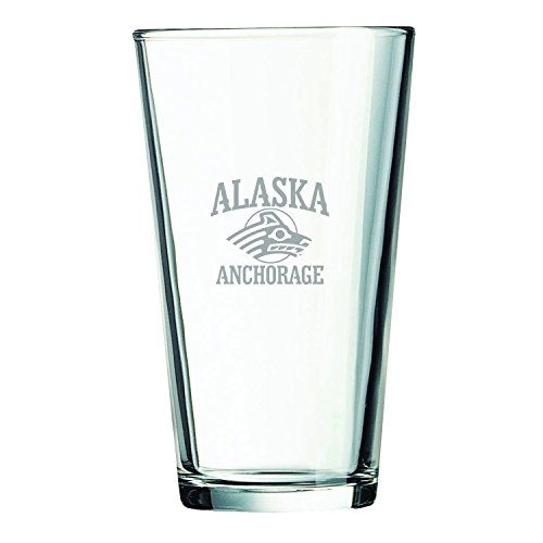 University of Alaska Anchorage -16 oz. Pint Glass - Alaska Glass