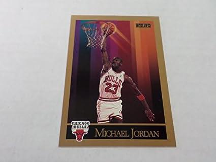fb6fc8a23e3a6 Amazon.com: Michael Jordan Basketball Card (Chicago Bulls) 1990 ...