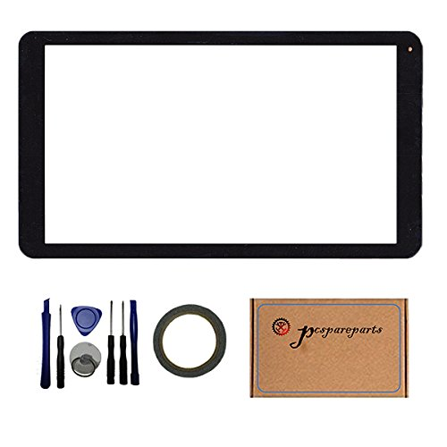 Pcspareparts Front Touch Screen Glass Screen Digitizer Panel for Polaroid P1010 10.1 inch Table PC