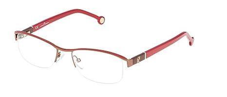 c31e6fd86e0 Image Unavailable. Image not available for. Colour  Carolina Herrera Glasses  Women VHE 052 0SCG Red Full Frame