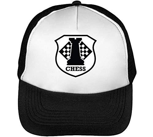 Beisbol Chess Badge Snapback Blanco Negro Hombre Sport Gorras vXA44q
