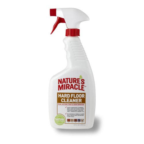 Nature's Miracle Dual Action Hard Floor Stain & Odor Remover, 24-Ounce Spray (P-5553) (Getting Rid Of Dog Urine Smell On Wood)