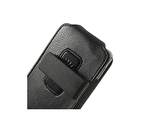 "DFV mobile - Magnetic leather holster case belt clip rotary 360º >      apple iphone 6 plus [5,5""], color black"
