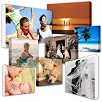"""Your My Photo Picture On Personalised Wall Canvas A4 12""""x8"""" inch 8x12 BOX FRAMED Perfect Gift"""