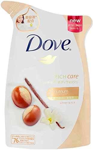 Body Wash Refill (360g Refill Dove Body Wash Rich Care Shea Butter & Vanilla By Dove (Dove))
