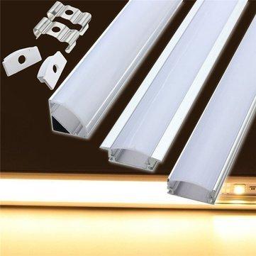 50cm aluminum channel holder for led strip light bar under cabinet 50cm aluminum channel holder for led strip light bar under cabinet lamp u shape mozeypictures Images