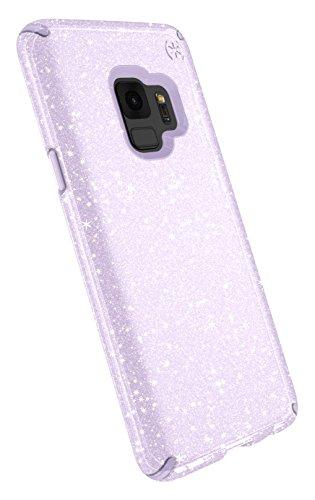 Speck Presidio Clear + Glitter Samsung Galaxy S9 Case, Geode Purple with Gold Glitter/Geode Purple