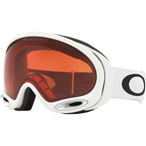 Oakley A-Frame 2.0 Asian Fit Snow Goggles, Polished White Frame, Prizm Rose Lens, - Oakley Goggles White