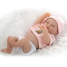 "TERABITHIA Miniature 10"" Cute Real Life Reborn Baby Dolls Silicone Vinyl Full Body Girl"