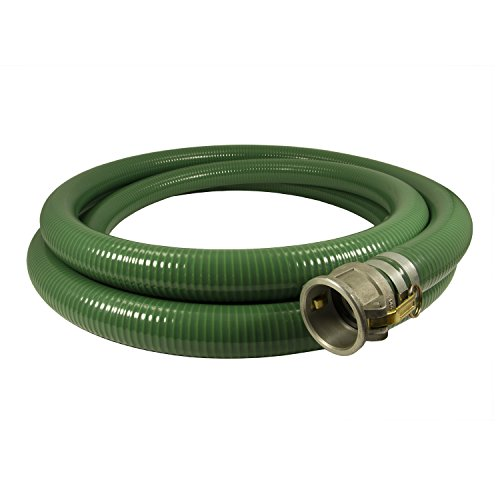 Anderson Process 4'' X 20' Green PVC Water Suction Hose Assembly w/ Cam Lock Fittings by Anderson Process (Image #1)