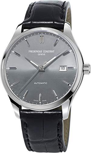 - Frederique Constant Grey Dial Leather E-Strap Men's Watch FC-303LGS5B6