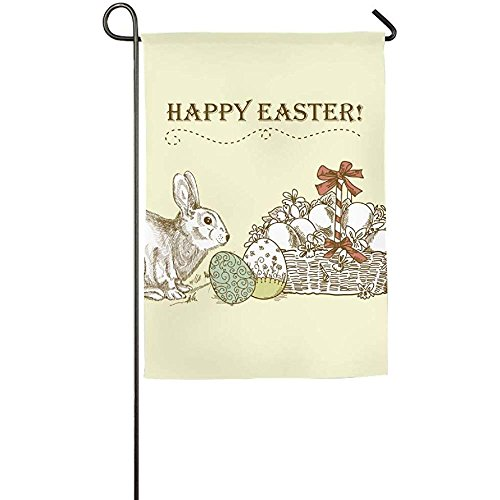 Starogs Vintage Easter Card Outdoor Flag Garden Flag Demonstration Flag Family Party Flag And Competition Flag