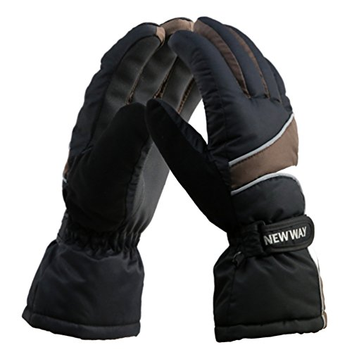 (Unistrengh Ski Snowboard Gloves Unisex Waterproof Windproof Durable Gloves for Snowboarding Skiing Cycling Fishing (FreeSize,)