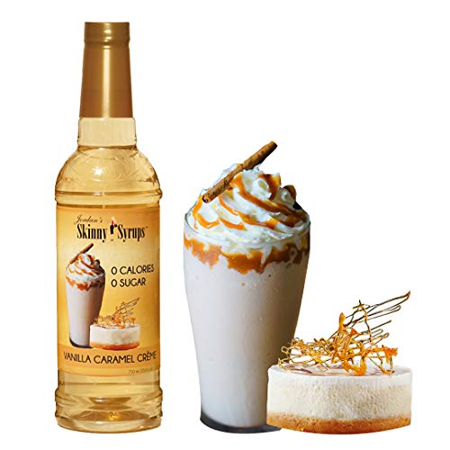 Jordan's Skinny Syrups Sugar Free 4 Flavor Variety 1 of each and every 750 ml Bottle with By The Cup Coffee Syrup Pumps