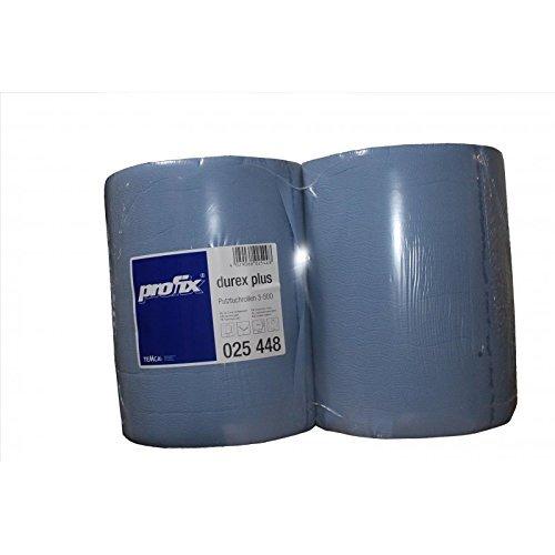 2 x pañ o rollo 3 capas azul 38 cm x 36 cm, 500 hojas cada Taller rollo de papel de papel pañ o Limpieza rollo muy suave absorbente y fuerte Putztuchrolle