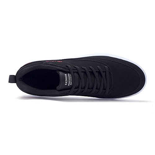Piatto Sportive Cricket Stringate da con da Scarpe Bianco Sneaker Uomo Scarpe Tacco Nero ZIqaxBId