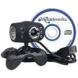 Komptronix VC-091U 300K USB 2.0 Webcam (Black)