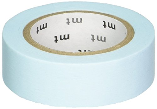 MT Washi Masking Tape, 1P Basic, 15mm x 10m, Pastel Dark Blue (MT01P307)