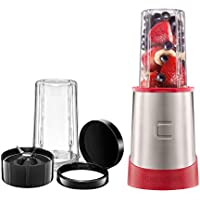 Chefman Ultimate Personal Smoothie Blender with 2 Travel Cups with Lids (Red)