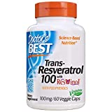 Doctor's Best, Trans-Resveratrol with Resvinol, Non-GMO, Vegan, Gluten Free, Soy Free, 100 mg, 60 Veggie Caps
