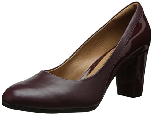 Clarks Womens Basilico Auburn Dress Pump Bordeaux