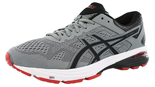 ASICS Men's GT-1000 6 Stone Grey/Black/Classic Red 7 D US