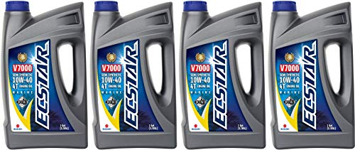(Suzuki ECSTAR V7000 10W-40 Marine 4-Stroke Engine Oil, 4 Gal)