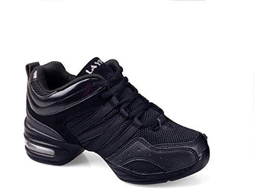 Sneaker Trainer Running Shoes Black Walking Shoes Dance Up Shoes Ladies VECJUNIA Lace wCnUtFBIq