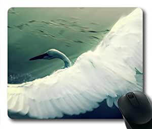 Flying Swan Oblong Shaped Mouse Mat