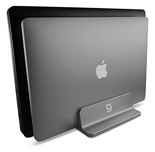 Laser Mouse Hewlett Packard (Vertical Laptop Stand, Double Desktop Stand Holder with Adjustable Dock, Fits All MacBook HP Dell Acer Lenovo Microsoft Samsung Sony ASUS Chromebook (up to 20.3 inch) Updated Dual 2 Slots (Gray))