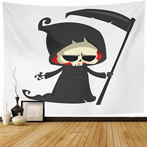 Grim Reaper Mascot Costume - Ahawoso Tapestry Wall Hanging 90
