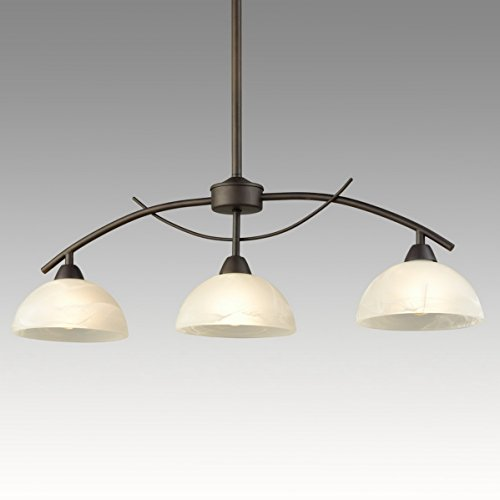 Dazhuan Vintage Frosted Glass Shade Pendant 3 Lights