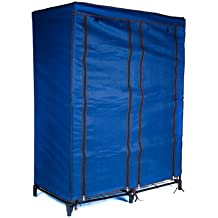 Trademark Home Portable Closet with 4 Shelves, Navy Blue