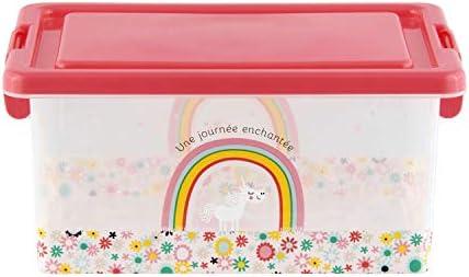 DLP- Didyusay - Caja de Juguetes de Unicornio, plástico, 26 x 18,5 ...