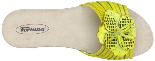 Fortuna Salma 423001-02 - Zuecos para mujer Amarillo (Gelb (yellow 075))