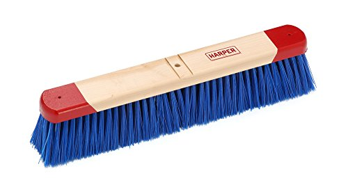 Harper Brush 791812 Broom Head, Polypropylene Fiber, Outdoor, Rough Wet or Dry Surface, Maple, 18'' (Pack of 12) by Harper Brush
