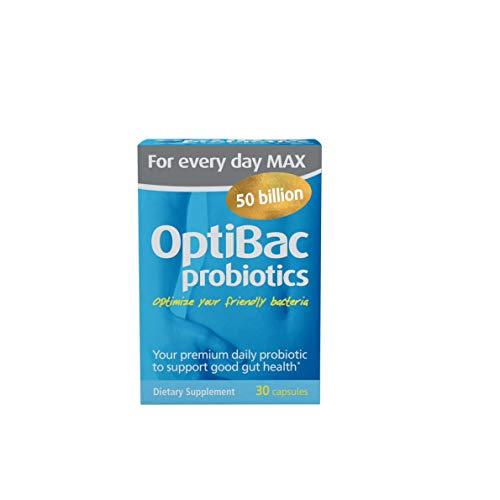 (OptiBac Probiotics For Every Day MAX - Multi-Strain 50 Billion CFU - 30 Capsules)