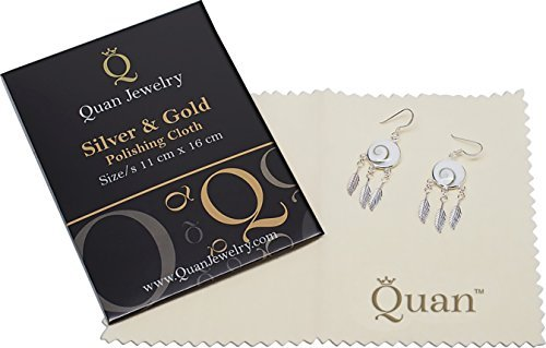 Quan Jewelry Cleaning Cloth, Polishing Cloth for Silver & Gold, Anti Tarnish, Microfiber, Cleans, Shines and Protects, Fashion Jewelry - Eyeglasses Dollar 10