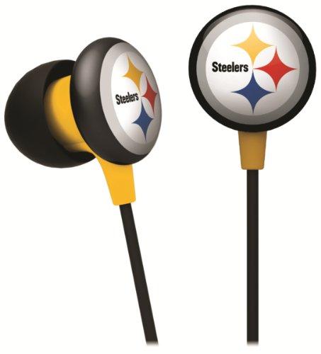 iHip NFF10200PS NFL Pittsburgh Steelers Mini Ear Buds- Black/Yellow