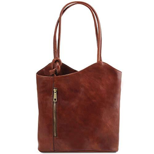 Tuscany Convertible Patty en Jaune à Sac Leather en Cuir Marron Dos Sac 4qrO4xX