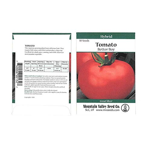 Tomato Garden Seeds - Better BOY Hybrid - 10 Seed Packet - Non-GMO, Vegetable