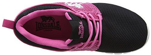 Lonsdale Sivas - Zapatillas de running Niñas negro (negro/Hot rosa)
