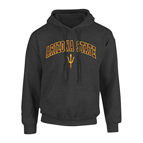 Arizona State Sun Devils Hooded Sweatshirt Arch Heather Gray - M - Charcoal