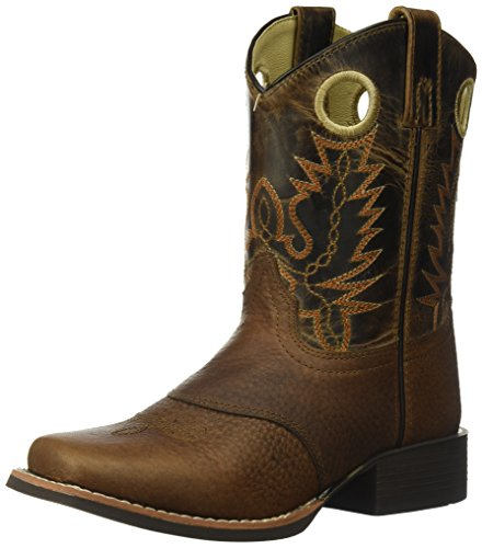 Image of Smoky Mountain Children Luke Square Toe Western Cowboy Boots Brown