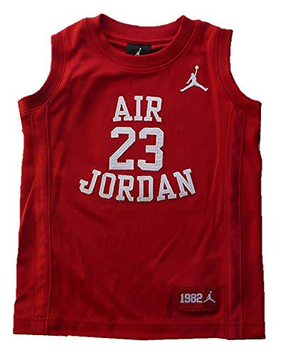 Nike Boys Youth Air Jordan Muscle T-Shirt (Large, Red)