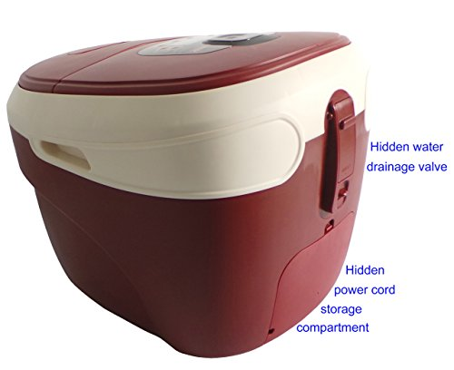 Carepeutic Ozone Waterfall Foot and Leg Spa Bath Massager, 20 Pound by Carepeutic (Image #1)