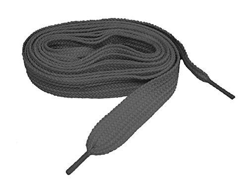 ProATHLETIC (tm) FAT 3/4 Inch Wide Sneaker Schnürsenkel Schnürsenkel - 2 Paar Pack Dunkelgrau