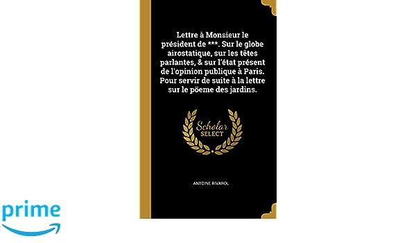 Lettre A Monsieur Le President De Sur Le Globe