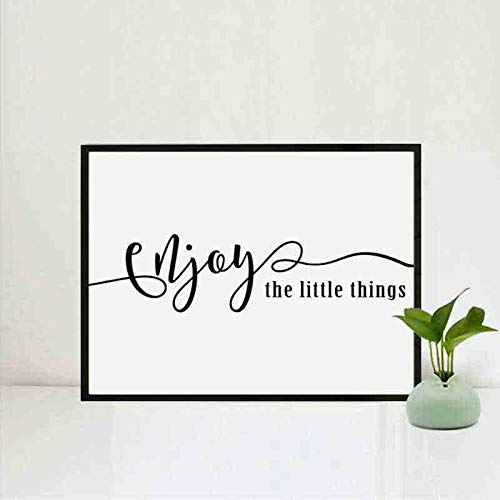 Amazon.com: Enjoy the Little Things Quotes Simple Life Text ...